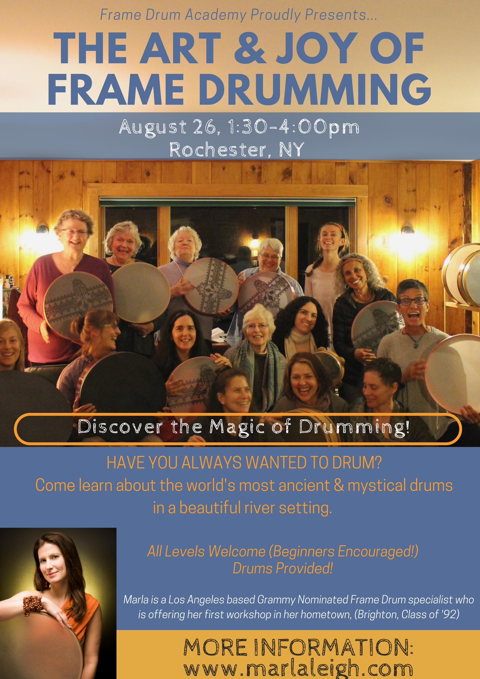 The Art of Frame Drumming - (Rochester, NY, August 26) - Marla Leigh ...